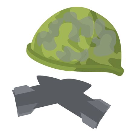 Military paraphernalia icon, isometric style