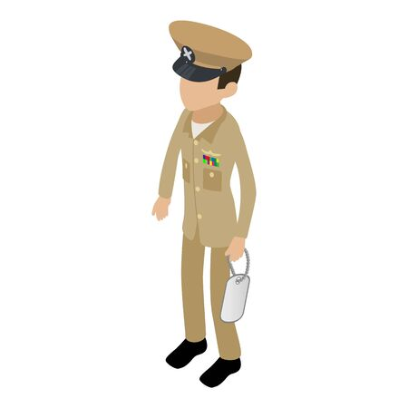 Officer icon. Isometric illustration of officer vector icon for web