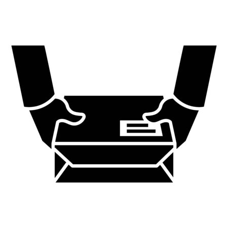 Document parcel icon, simple style