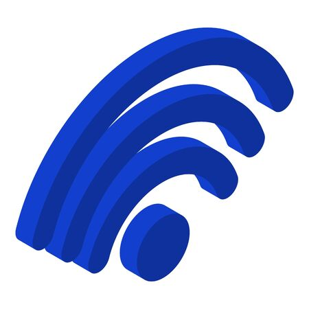 Wifi icon. Isometric of wifi vector icon for web design isolated on white background