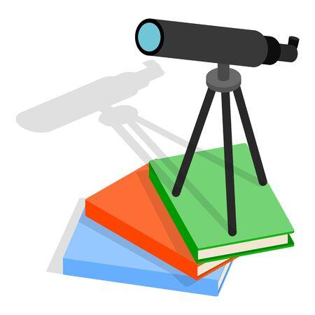 Astronomy icon, isometric style  イラスト・ベクター素材