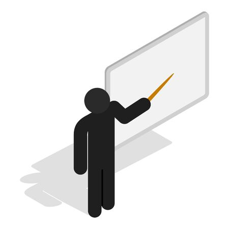 Presentation icon, isometric style