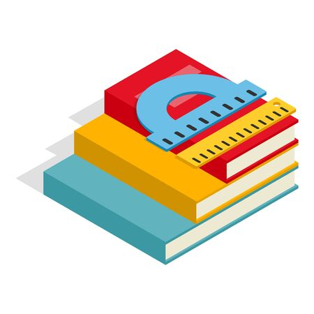 School accessory icon, isometric style