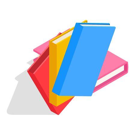 Children book icon, isometric style