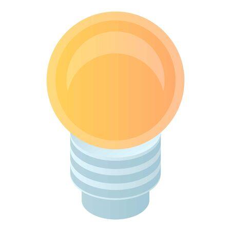 Bulb light icon, isometric style Ilustração
