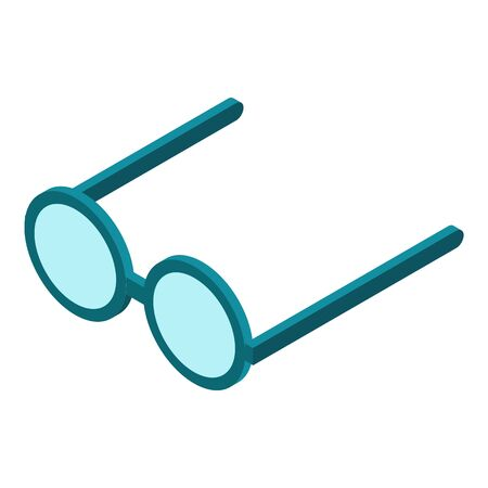 Eyeglasses icon, isometric style Stock Illustratie