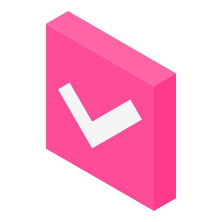 Approved icon, isometric style