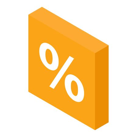 Percent sale icon. Isometric of percent sale vector icon for web design isolated on white background