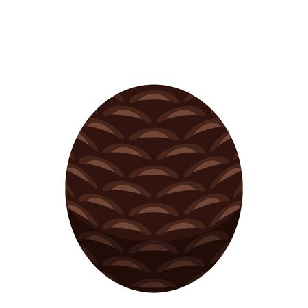 Round pine cone icon. Isometric of round pine cone vector icon for web design isolated on white background Ilustrace