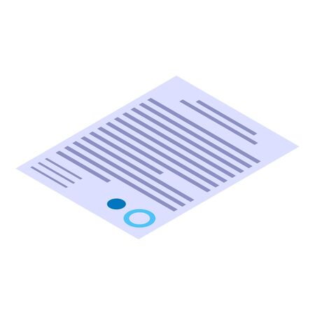 Contract paper icon. Isometric of contract paper vector icon for web design isolated on white background Stok Fotoğraf - 134693785