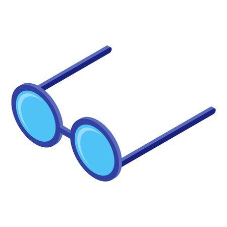 Eyeglasses icon, isometric style Illusztráció