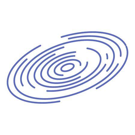 Fingerprint icon, isometric style