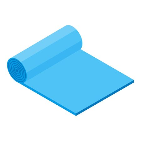 Yoga mat icon, isometric style Stock Vector - 134737832