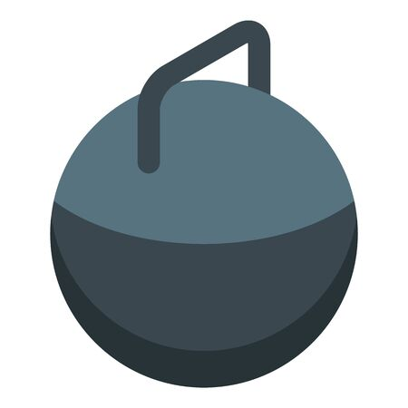 Kettlebell icon, isometric style Stock Vector - 134737843