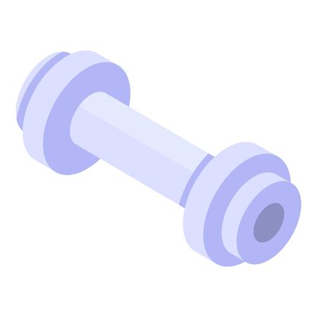 Barbell icon, isometric style Stock Vector - 134737847