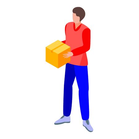 Parcel delivery icon. Isometric of parcel delivery vector icon for web design isolated on white background