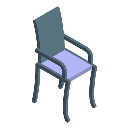 Patio chair icon, isometric style Illusztráció