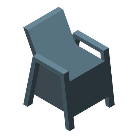 Balcony chair icon, isometric style Illusztráció