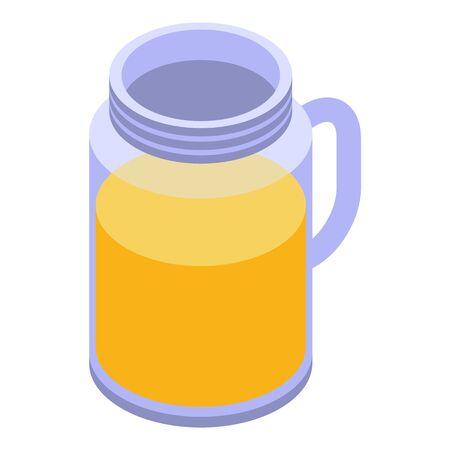 Orange juice jug icon, isometric style