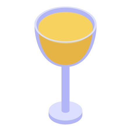 Glass cup of juice icon, isometric style Illustration