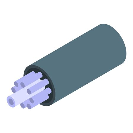 Optic cable icon, isometric style