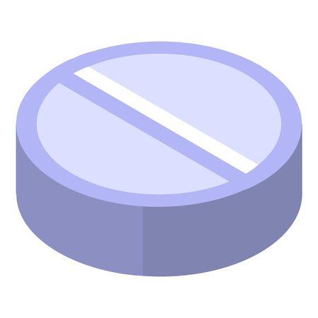 Sugar pill icon, isometric style