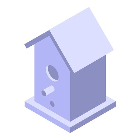 Spring bird house icon, isometric style 向量圖像
