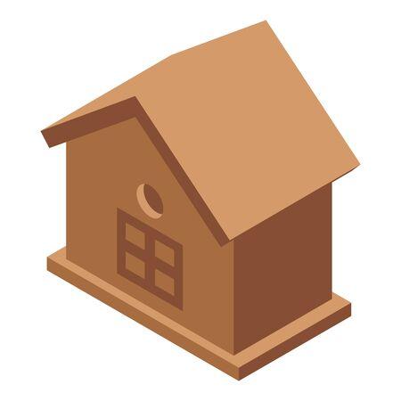 Oak bird house icon, isometric style Ilustrace