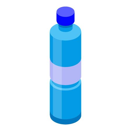 Water bottle icon. Isometric of water bottle vector icon for web design isolated on white background 일러스트