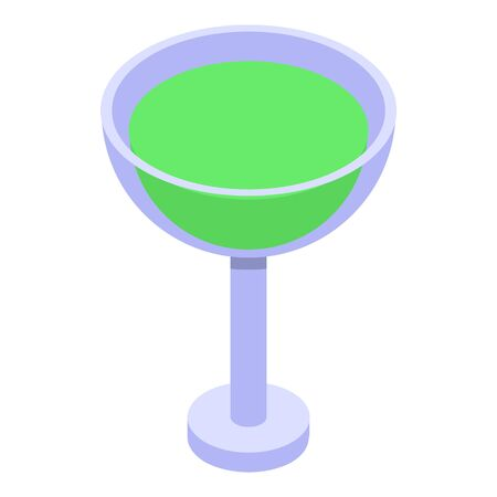 Lime juice cocktail icon. Isometric of lime juice cocktail vector icon for web design isolated on white background
