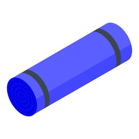 Yoga mattress icon. Isometric of yoga mattress vector icon for web design isolated on white background Illustration