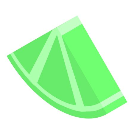 Lime piece icon. Isometric of lime piece vector icon for web design isolated on white background