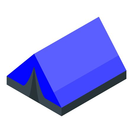 Hiking tent icon, isometric style