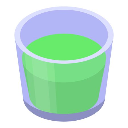 Lime glass juice icon, isometric style Illustration