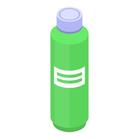 Lime juice bottle icon, isometric style