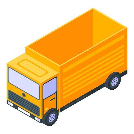Road repair truck icon, isometric style
