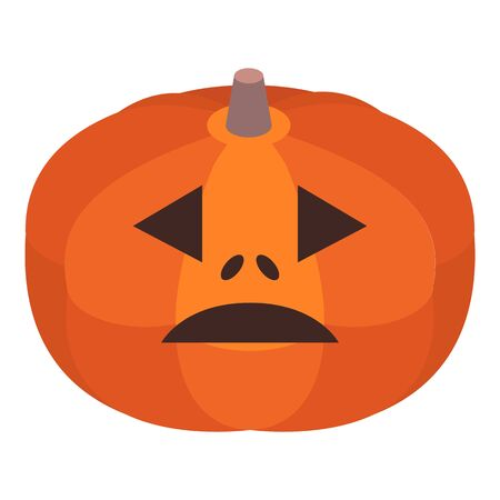 Vegetable halloween pumpkin icon, isometric style Ilustracja