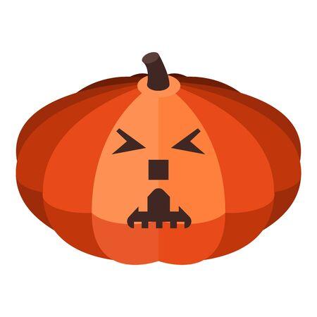 Ghost pumpkin icon, isometric style Illusztráció