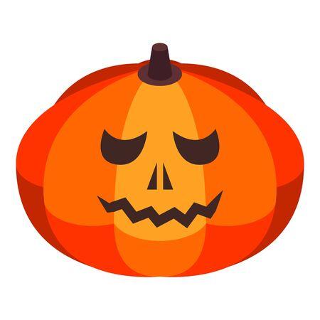 Bad halloween pumpkin icon. Isometric of bad halloween pumpkin vector icon for web design isolated on white background Zdjęcie Seryjne - 134903206