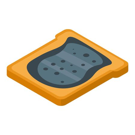 Blackberry butter icon, isometric style Ilustração