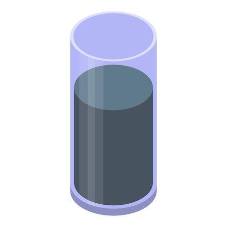 Smoothie blackberry icon, isometric style
