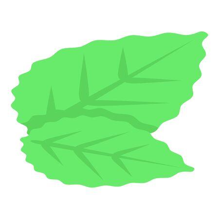 Blackberry leaves icon, isometric style Ilustração
