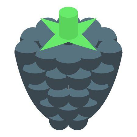 Blackberry fruit icon, isometric style Ilustração
