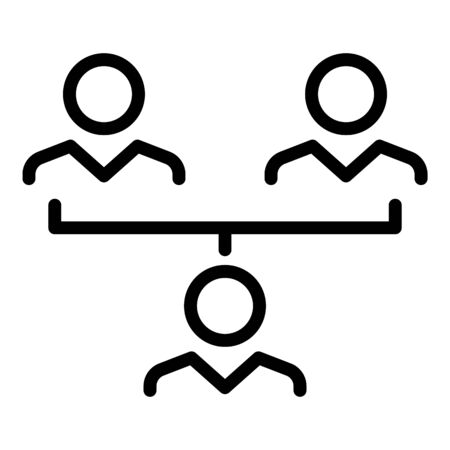 Influence teamwork icon, outline style
