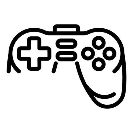 Joystick icon. Outline joystick vector icon for web design isolated on white background Illustration