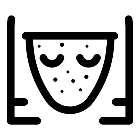 Girl face disease icon, outline style