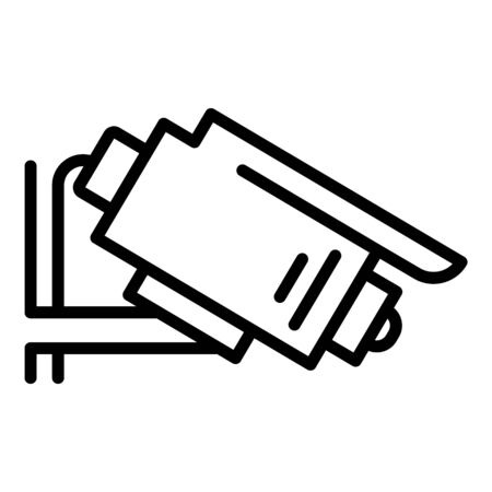 Security camera icon, outline style Illustration