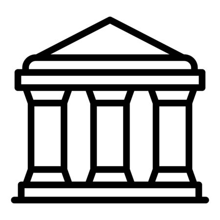 Justice building icon, outline style Illustration
