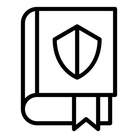 Protect justice book icon, outline style Illustration