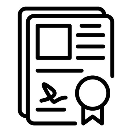 Office justice paper icon, outline style